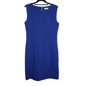 Calvin Klein Sheath Dress with Side Zipper Details